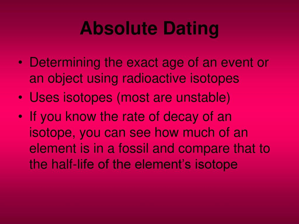 isotoper dating fossil