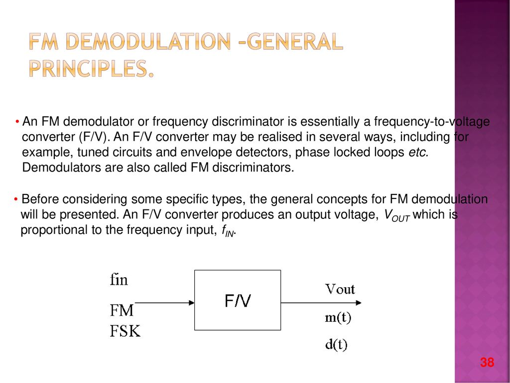 Amplitude Modulation Ppt Download Way To Do This Is Using An Envelope Detector Circuit Like 50 Fm Demodulation
