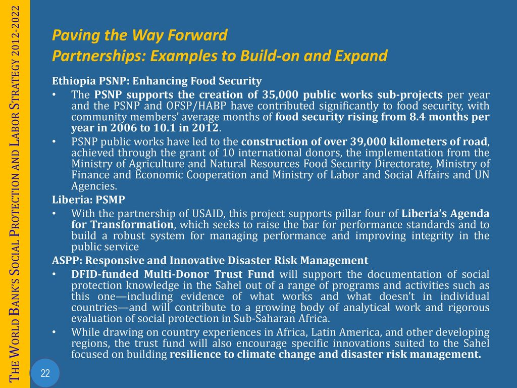 Building Social Protection and Labor Systems In Africa - ppt download