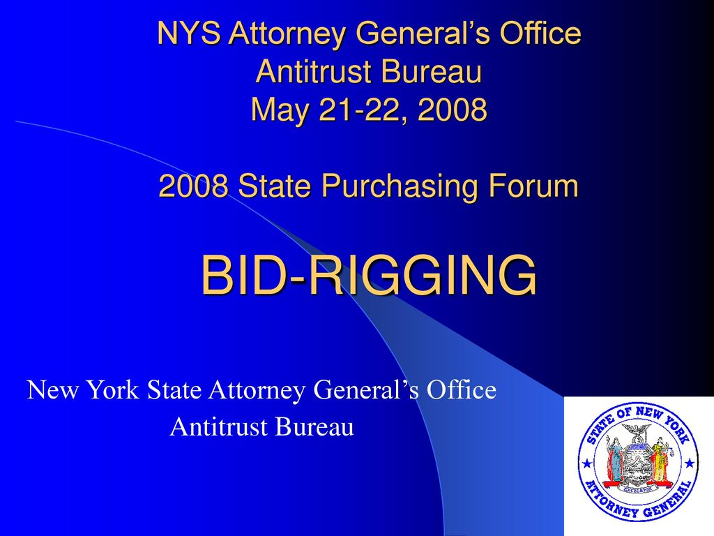 New York State Attorney General S Office Antitrust Bureau Ppt Download