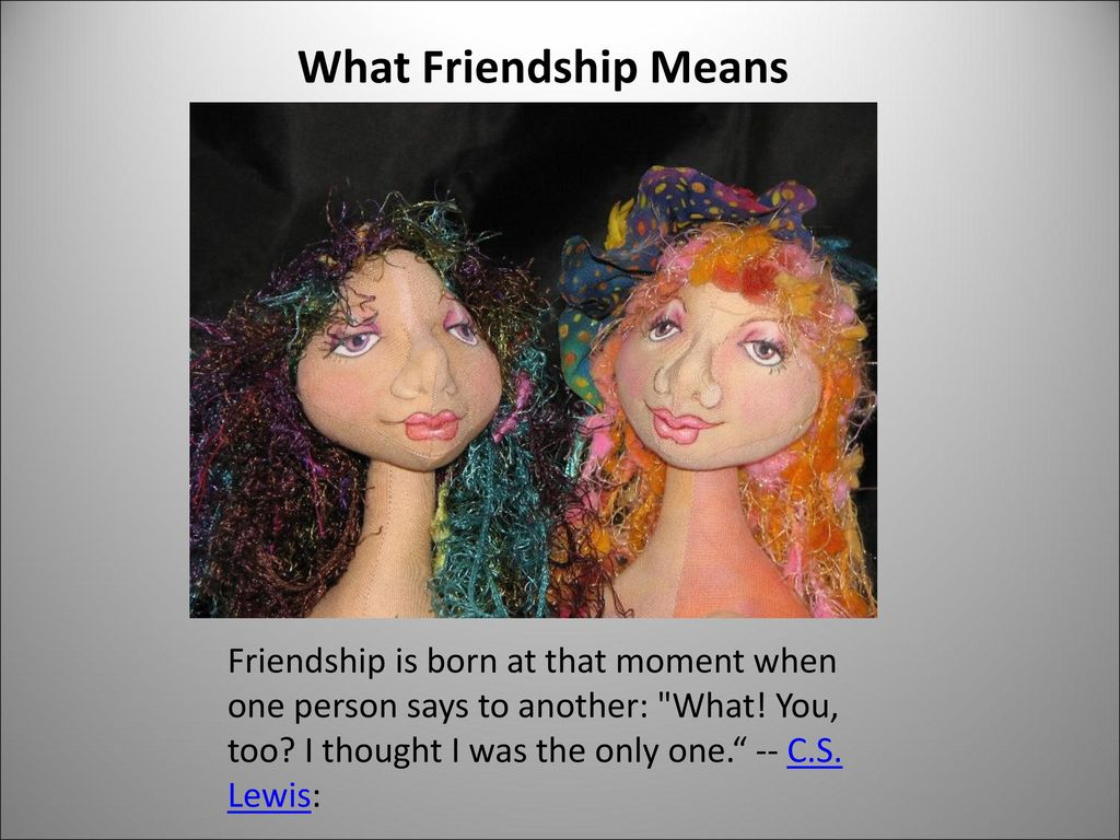 What Friendship Means