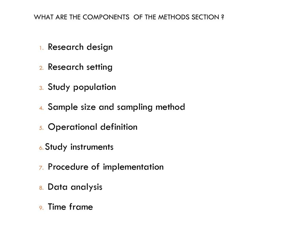 sample methods section