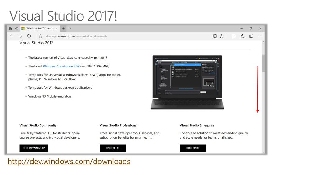 visual studio 2017 download old version