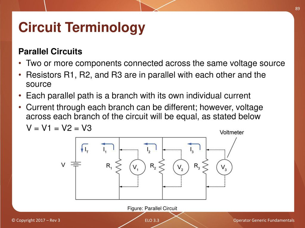 Operator Generic Fundamentals Basic Electricity Part 1 Ppt Download In This Simple Circuit The Two Resistors R1 And R2 Represent Ordinary 89 Terminology Parallel Circuits Or More Components Connected Across Same Voltage Source