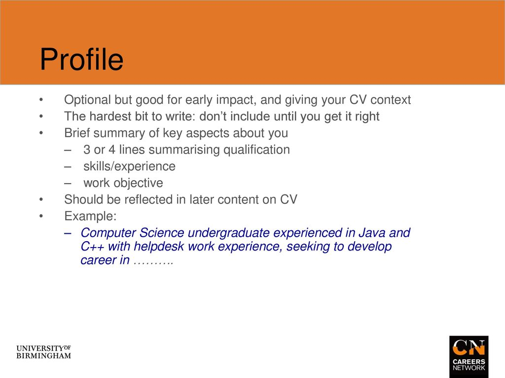 Technical Cvs Computer Science Professional Computing Ppt