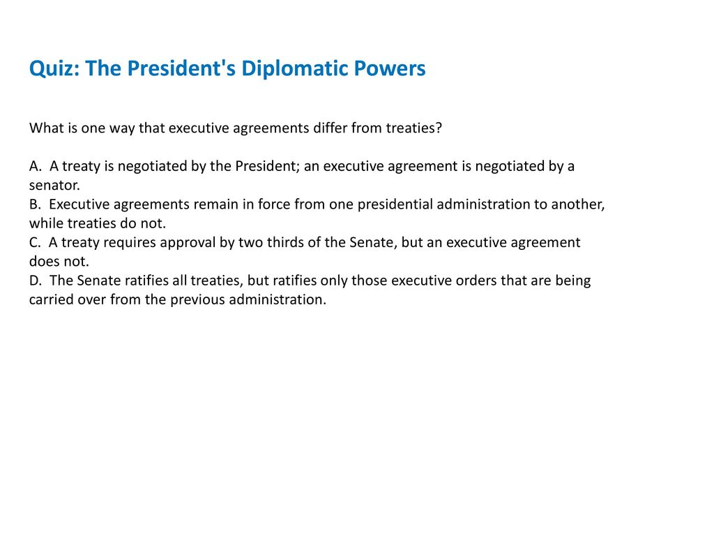 54 The Presidents Foreign Affairs Powers Ppt Download