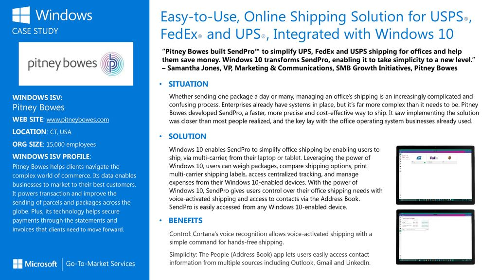 Easy-to-Use, Online Shipping Solution for USPS®, FedEx® and