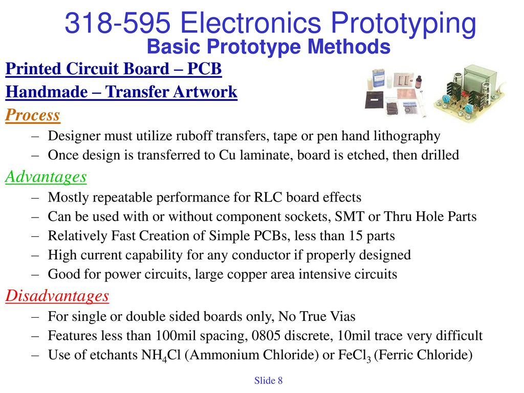 Project Prototypes Prototype Definition Initial Electrically Printed Circuit Board Design And Method Basic Methods 9 Etching Of Circuits