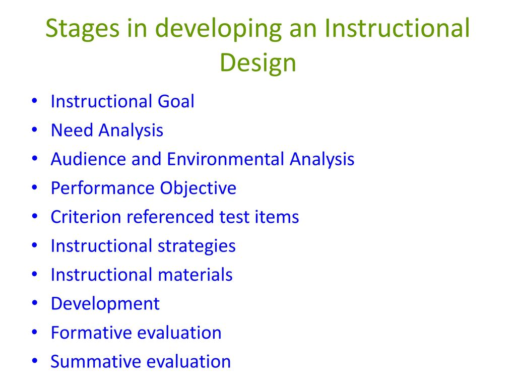 Instructional Design Many Definitions Exist For Instructional Design 1 Instructional Design As A Process 2 Instructional Design As A Discipline Ppt Download