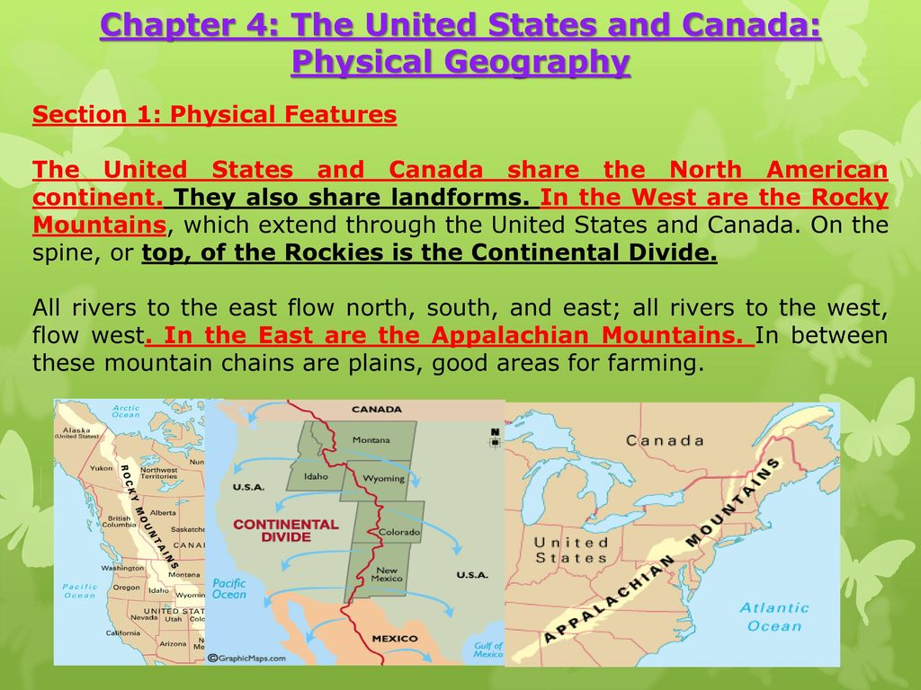Chapter 4: The United States and Canada: Physical Geography ...