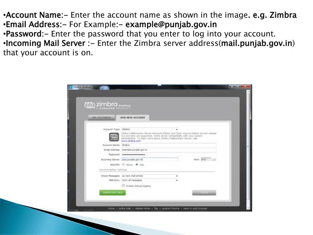 ZIMBRA DESKTOP USER MANUAL - ppt download