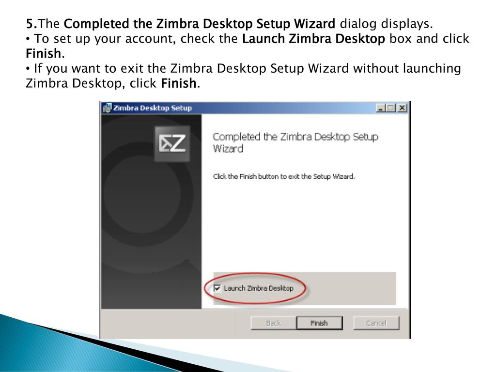 ZIMBRA DESKTOP USER MANUAL - ppt download