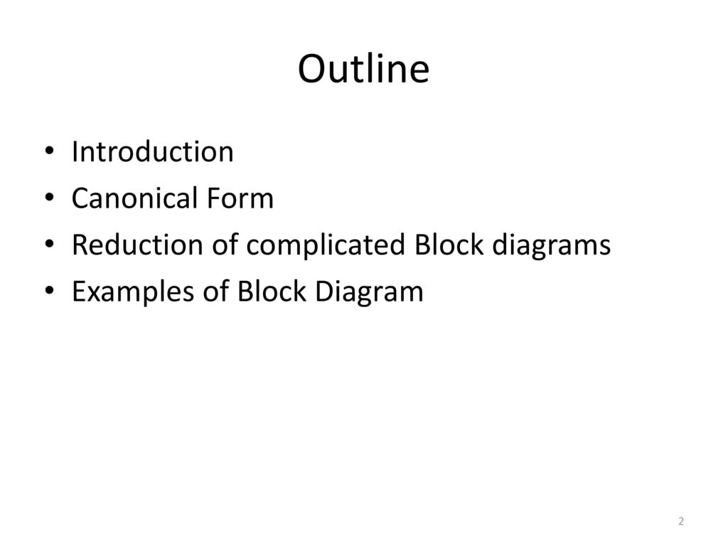 Block diagram representation of control systems ppt download block diagram representation of control systems 2 outline introduction canonical form ccuart Images