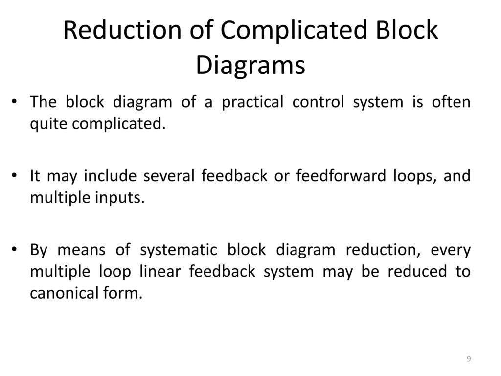 9 Reduction of Complicated Block Diagrams
