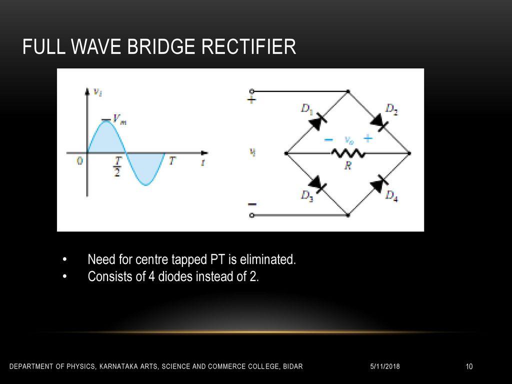Rectifiers Sri S L Kulkarni Associate Professor Head Ppt Download Centre Tap Full Wave Rectifier Bridge