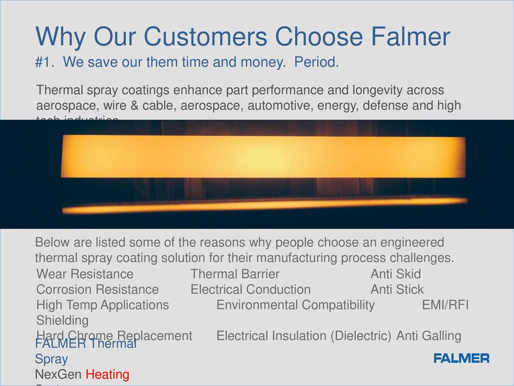 NEXGEN HEATING Falmer Thermal Spray Stacy M  Ames, President - ppt