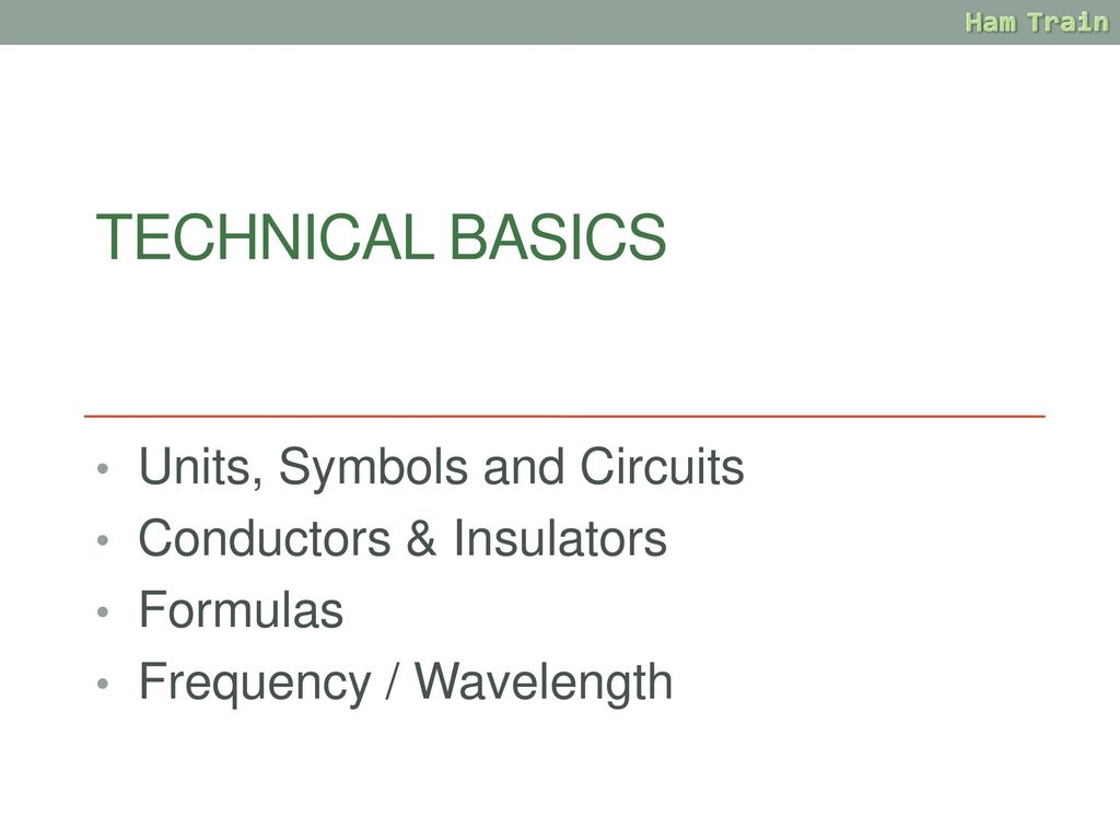 Amateur Radio Training Ppt Download Symbols In Circuits Technical Basics Units And Conductors Insulators