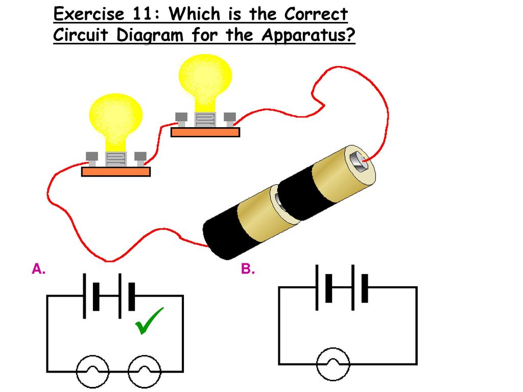 Exercise 11: Which is the Correct Circuit Diagram for the Apparatus