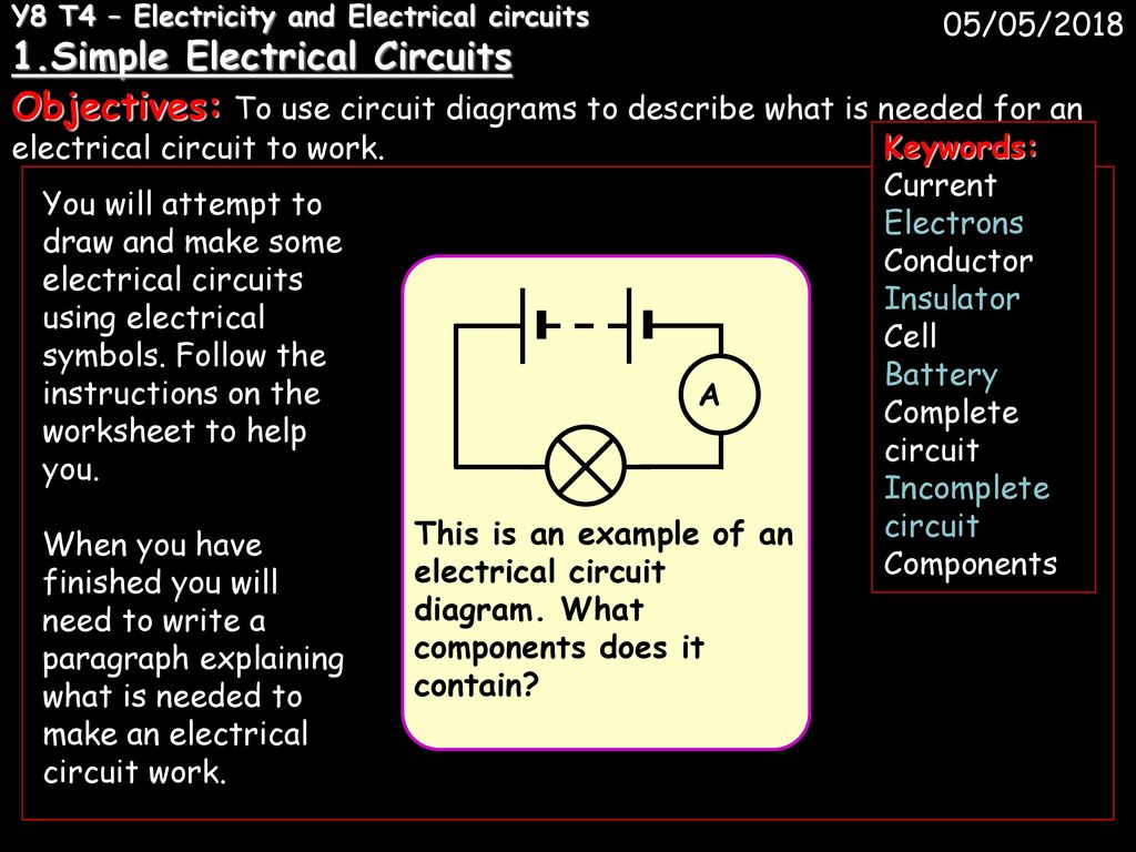 Y8 T4 Electricity And Electrical Circuits 1 Ppt Download Basic Diagrams