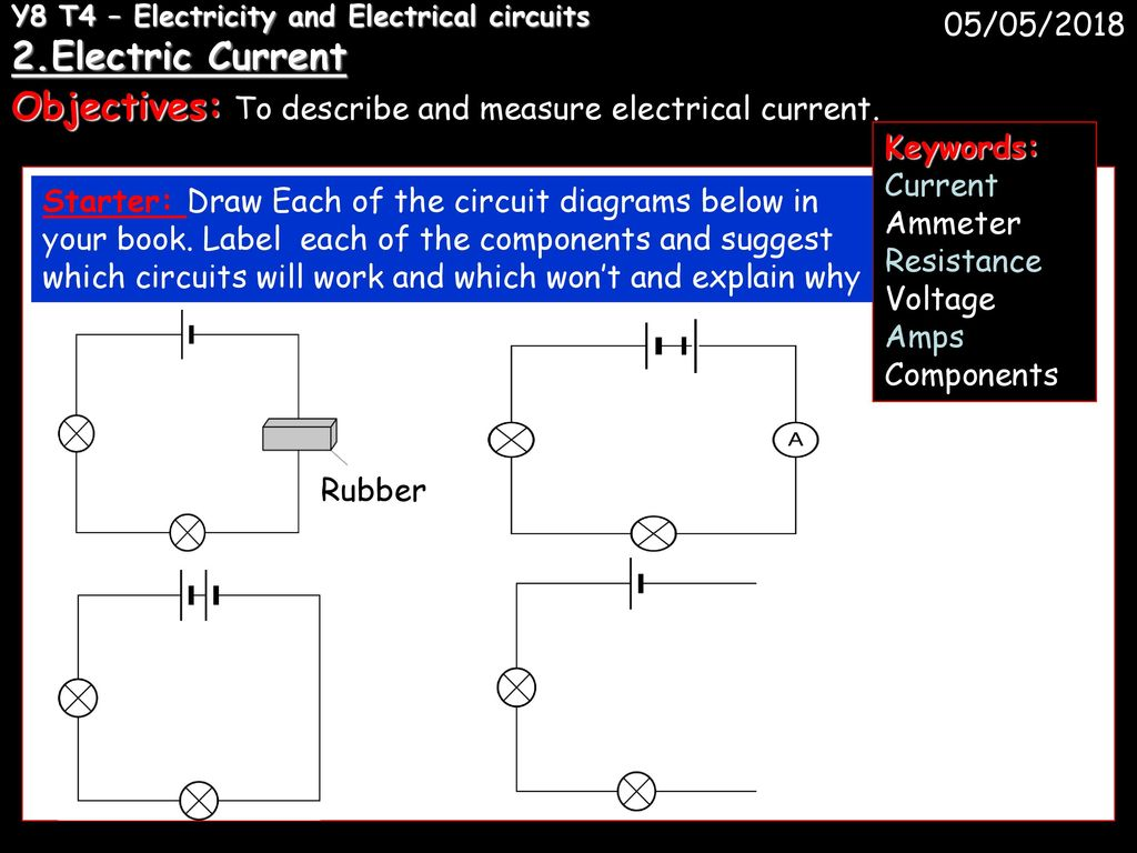 Y8 T4 Electricity And Electrical Circuits 1 Ppt Download Draw Diagrams 2electric Current