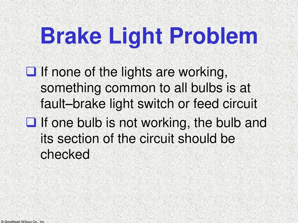 Lights Instrumentation Ppt Download Parallel Circuit And The Lightbulbs Will Not Light If Switch Does Brake Problem None Of Are Working Something Common To All Bulbs