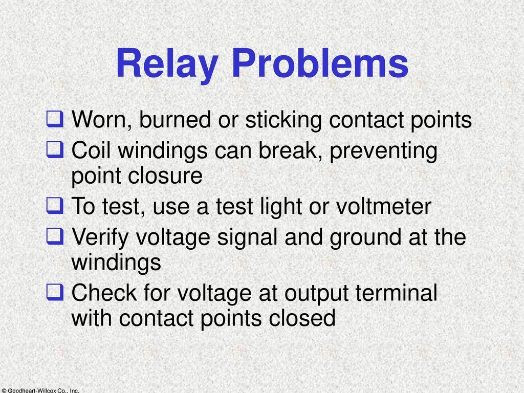 Lights Instrumentation Ppt Download Electromagnetic Relay Problems 89