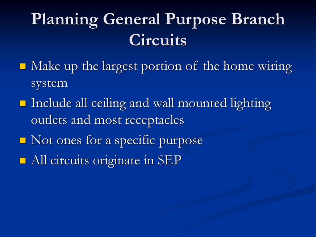 Planning Electrical Circuits Ppt Download General Home Wiring Purpose Branch