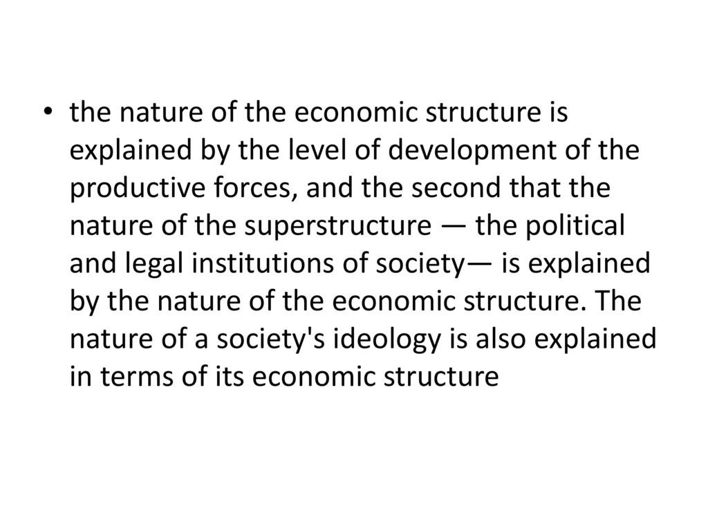 The productive forces are ... The definition, structure and factors of the development of the productive forces 75