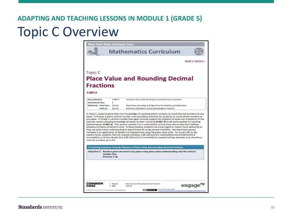 Adapting Curriculum Maps & Intro to Module 1 Grade 5 - ppt