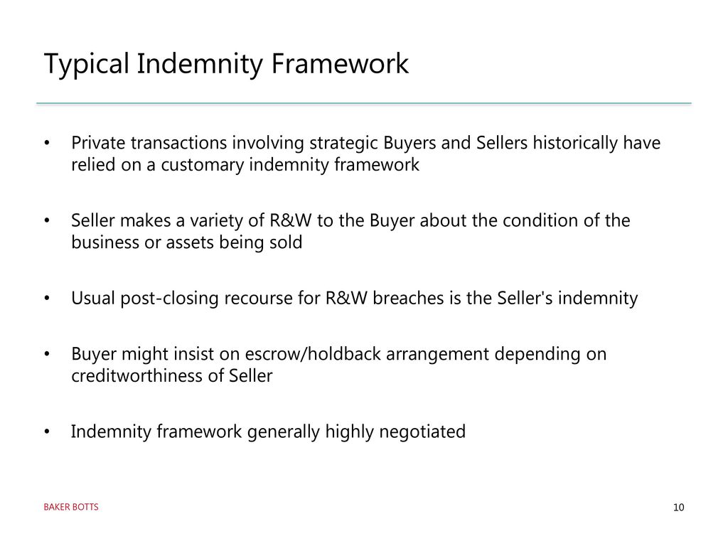 R&W Insurance as a Tool for Strategic Buyers and Sellers