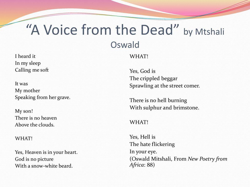 Types of Poetry II: Descriptive Poetry, Narrative Poetry