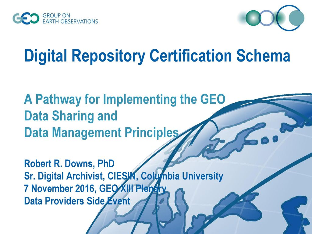 Digital Repository Certification Schema A Pathway For Implementing