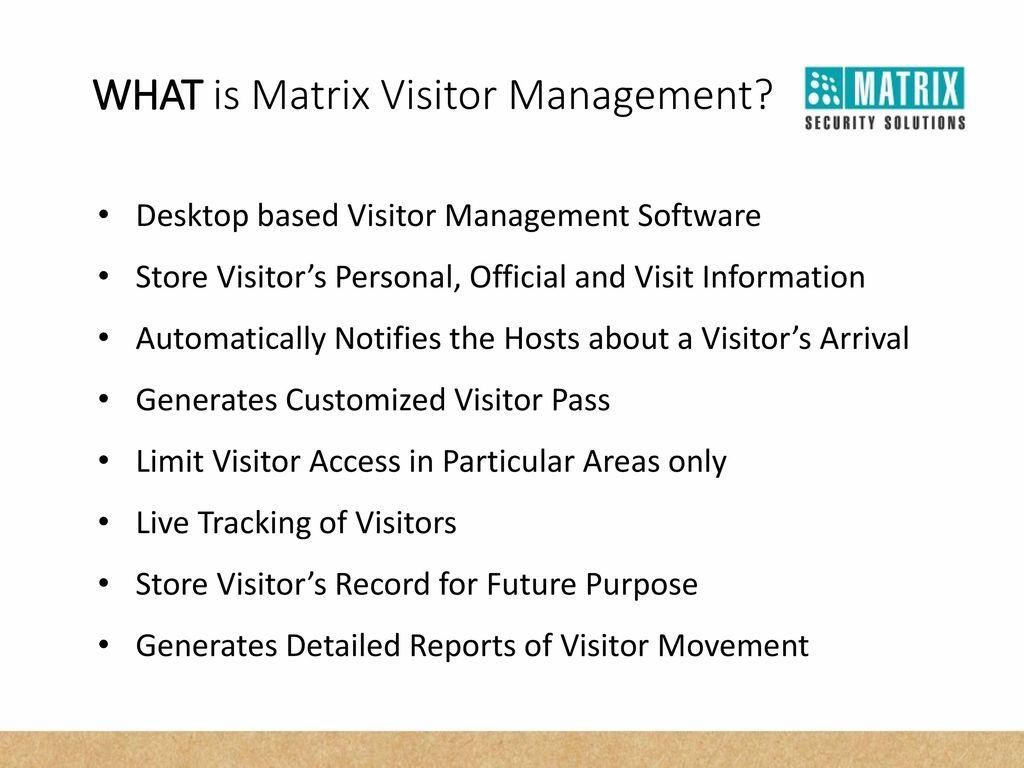 COSEC Visitor Management - ppt download