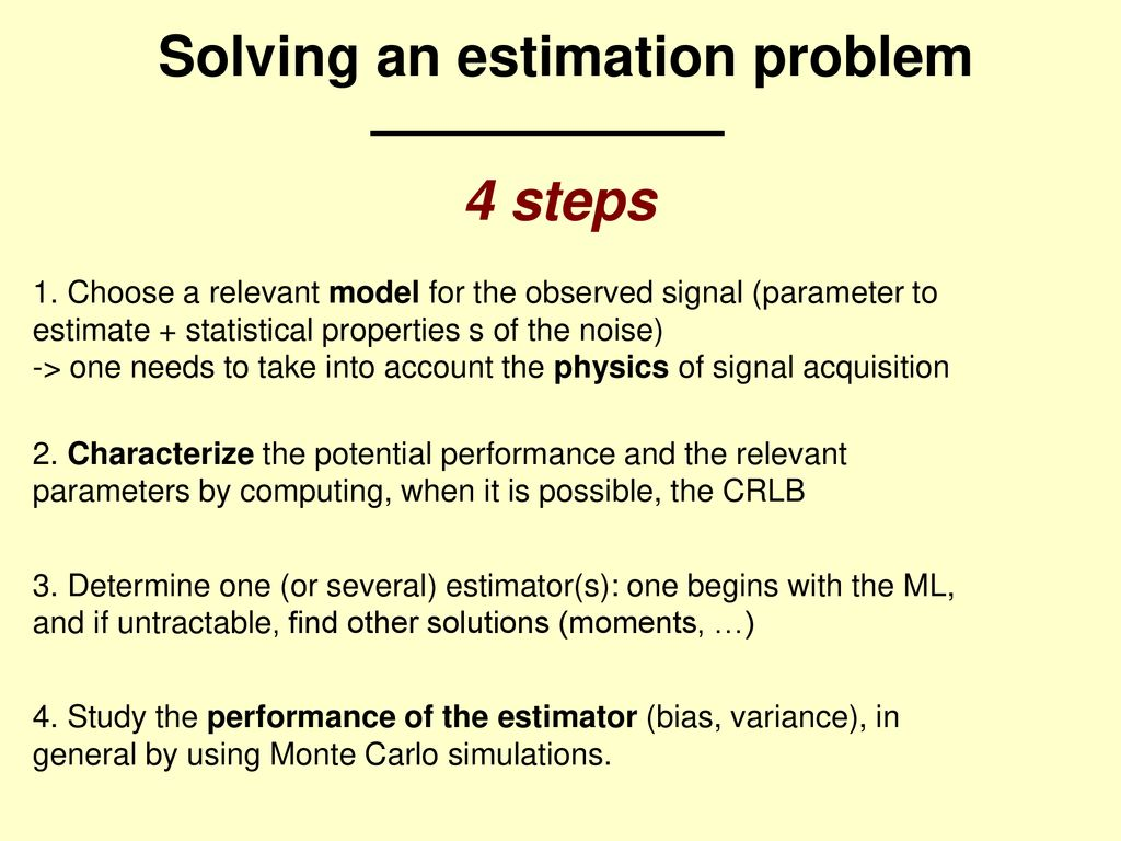 Solving an estimation problem - ppt download