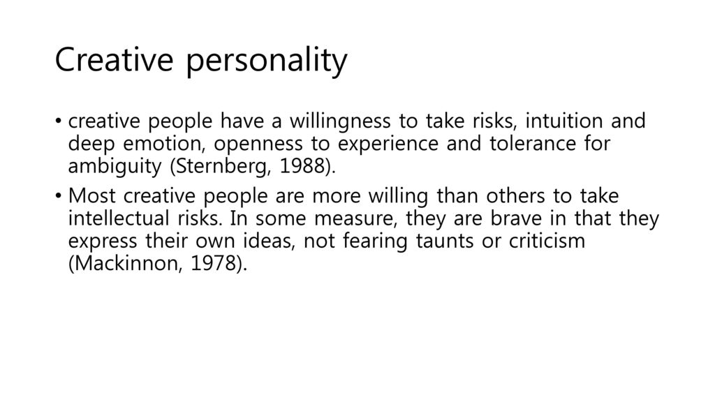 creative/people personality style