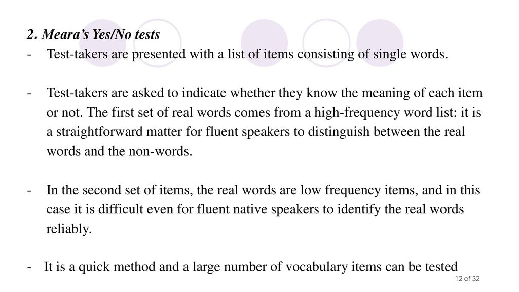 The Relationship between L2 Vocabulary Knowledge and L2