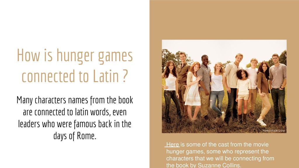 The Hunger Games Latin Greek Names Ppt Download