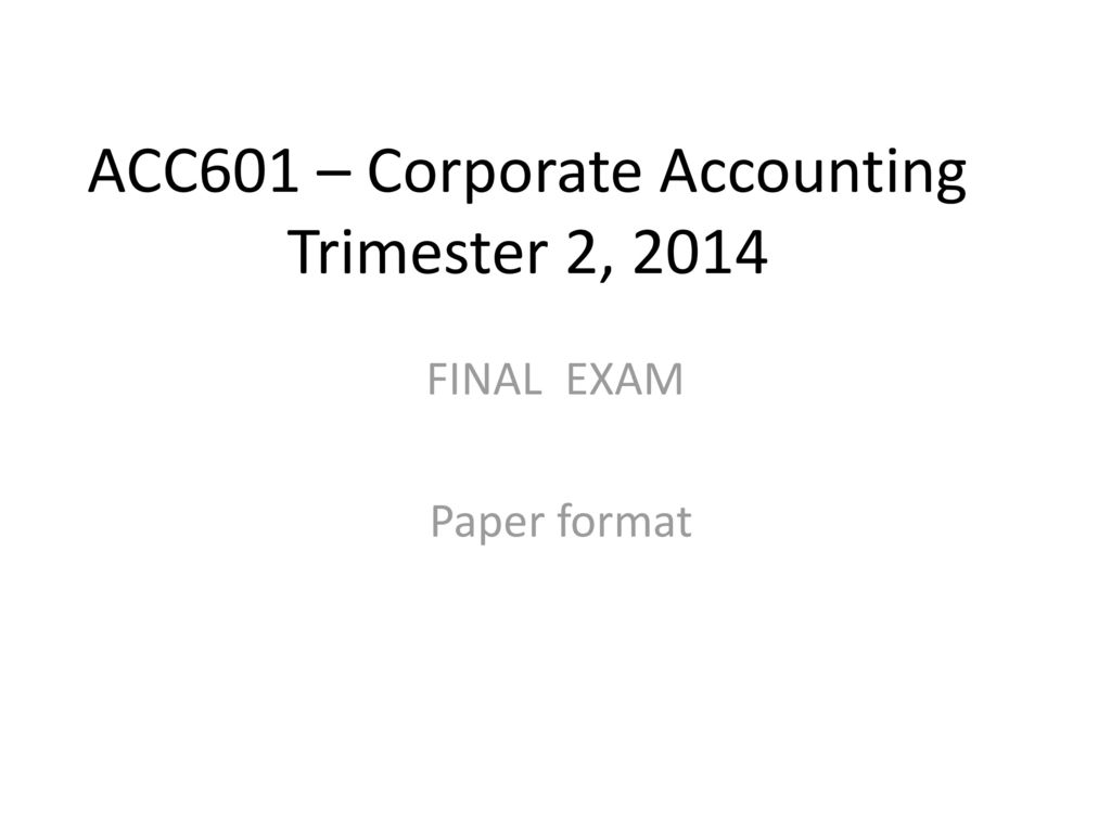 accounting paper format