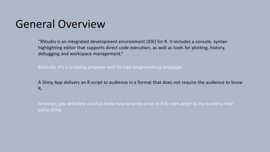 Shiny for RStudio Exploring Web Mapping Technology - ppt download