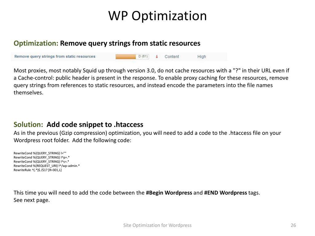Site Optimization for WordPress - ppt download
