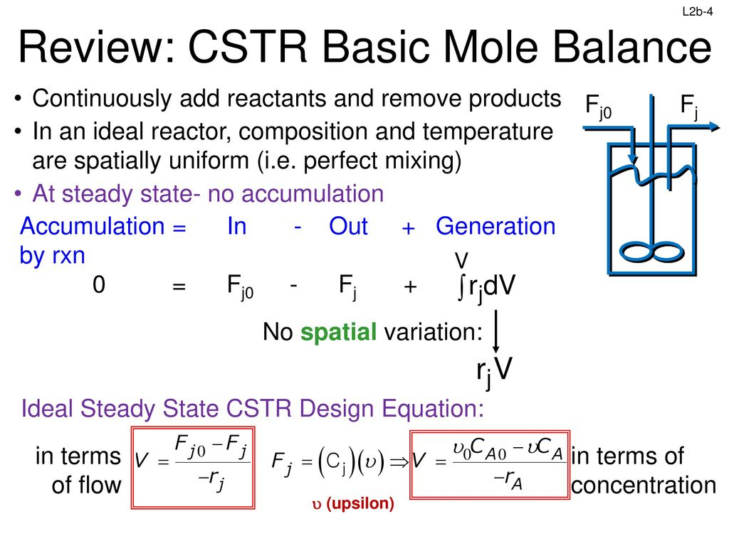 L2b Reactor Molar Balance Example Problems Ppt Download Design Rxn 4 Review
