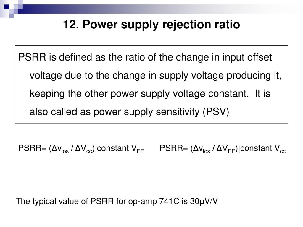 Course Contents Unit 1a Integrated Circuits Ppt Download Lm741 Based Comparator Uses Bipolar Power Supply Rejection Ratio