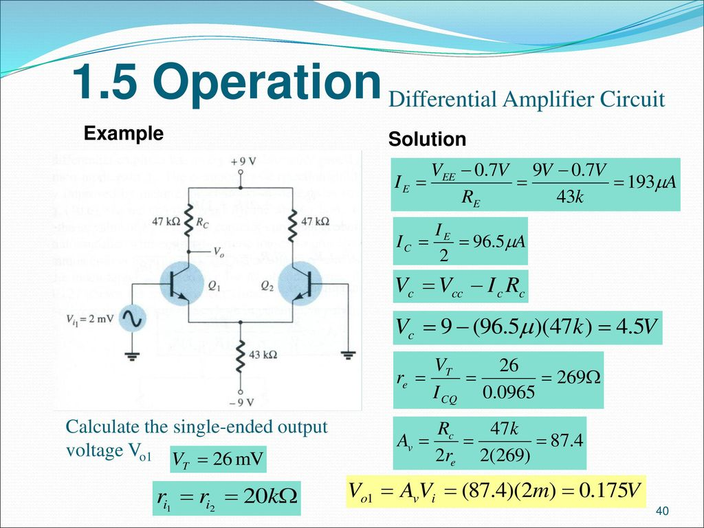 Analogue Electronics Ii Emt 212 4 Ppt Download Wein Bridge Oscillator Using Ic 741 Op Amp Circuits Gallery 15 Operation Differential Amplifier Circuit Example Solution
