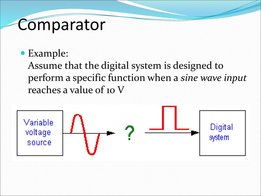 Analogue Electronics Ii Emt 212 4 Ppt Download Quartz Crystal Sine Wave Oscillator Circuit Basiccircuit 84 Comparator