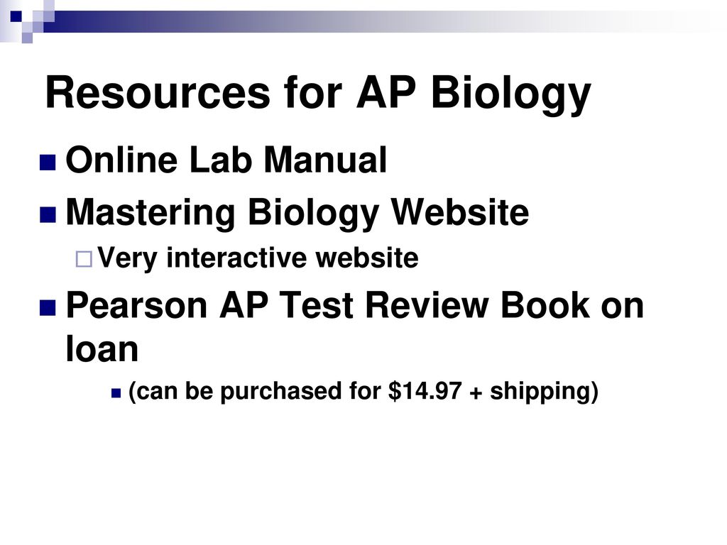 Resources for AP Biology