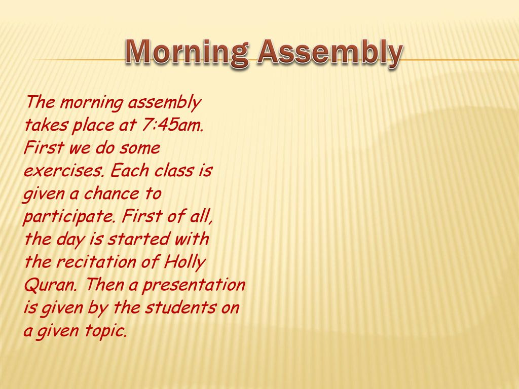 good topics for morning assembly