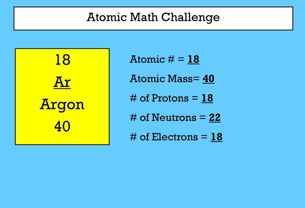 Argon gas atomic mass