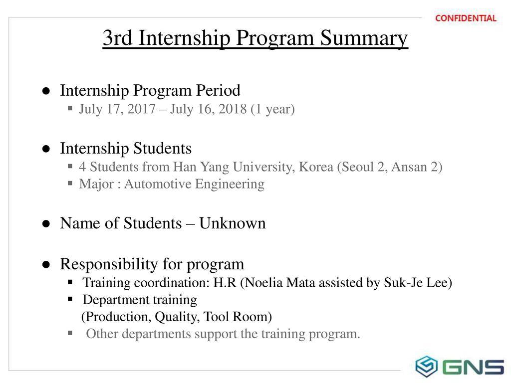Korean College Student Internship Program (3rd) - ppt download