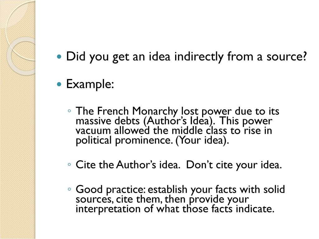 how to cite sources in french