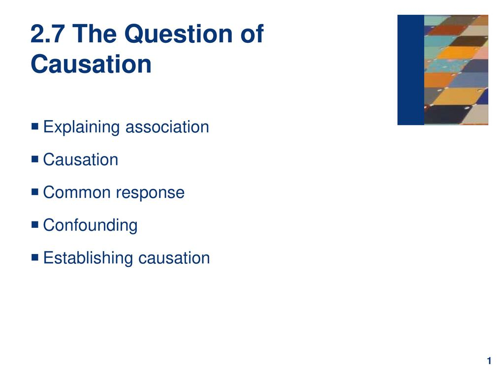 2.7 The Question of Causation